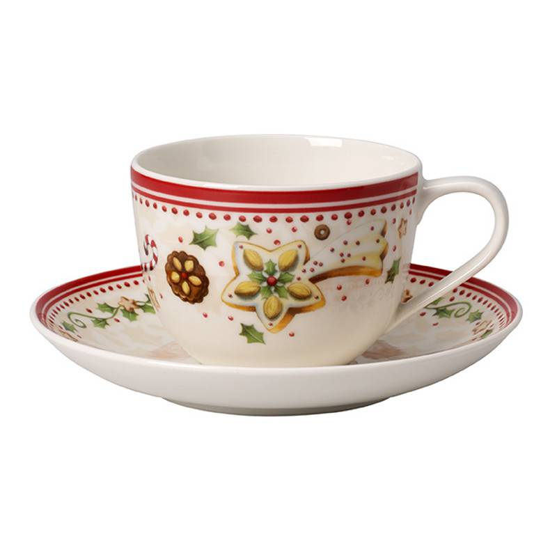 COFFEE CUP AND SAUCER WINTER BAKERY DELIGHT VILLEROY ET BOCH CHRISTMAS